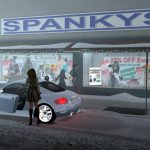 Spankys spanking shop Christmas display