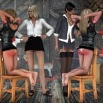 Red hot spanked teen bottoms