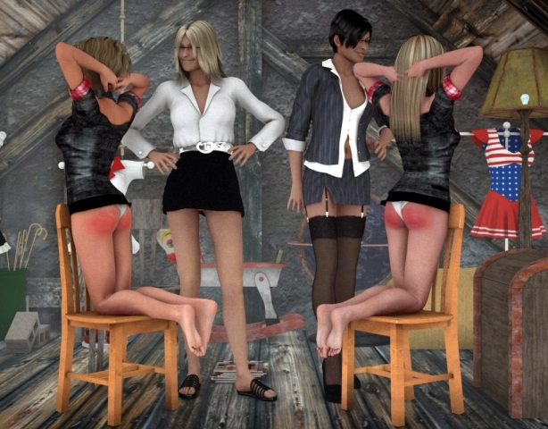 Red Hot Spanked Bottoms