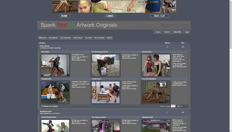 spankred3d.com screenshot