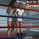 spanking and caning competition German team