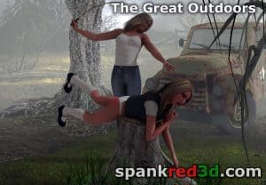 outdoor spankings and canings