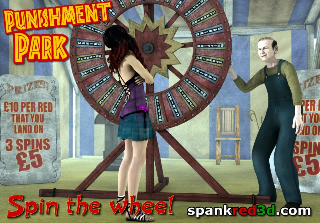 Wheel Of Fortune at Punishment Park spanked red naughty bottoms