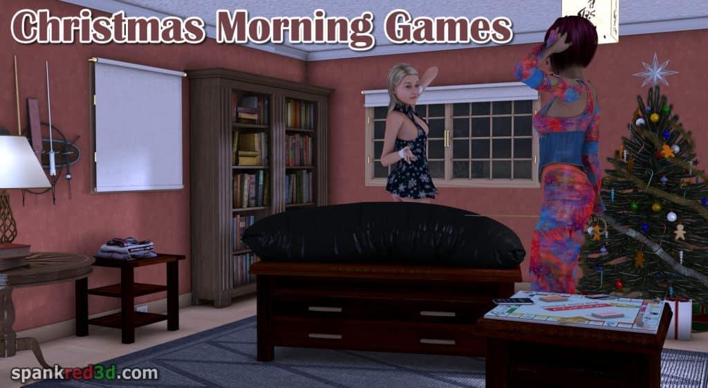 Christmas spanking caning