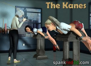 Mr & Mrs Kane spank red 3d