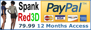 access members area of spank red 3D with Pay Pal