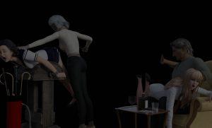 spankred3d spanking caning naughty schoolgirl background