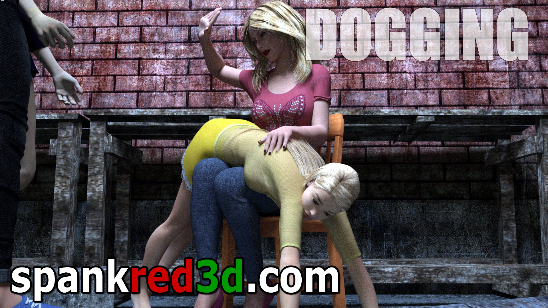 Dogging spanking naughty girls bottoms