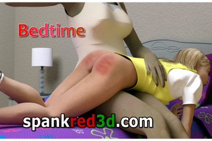 Bedtime spankl spanking otk naughty daughter pyjamas nighty