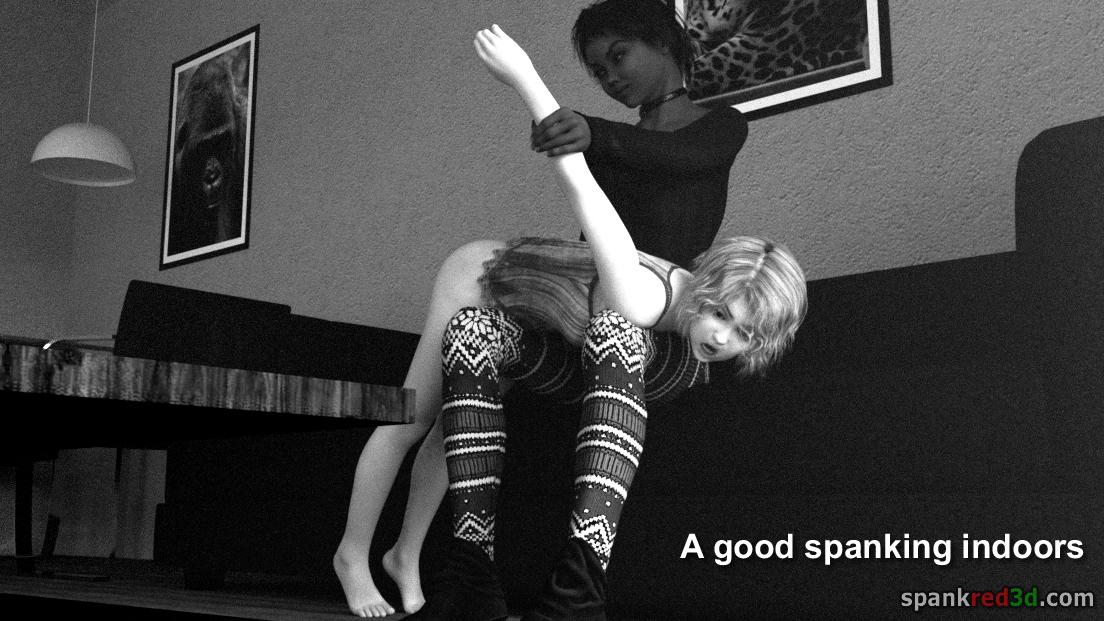 Spanking Indoors