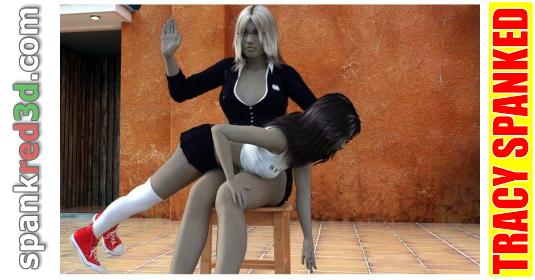 Tracy spanked hard OTK