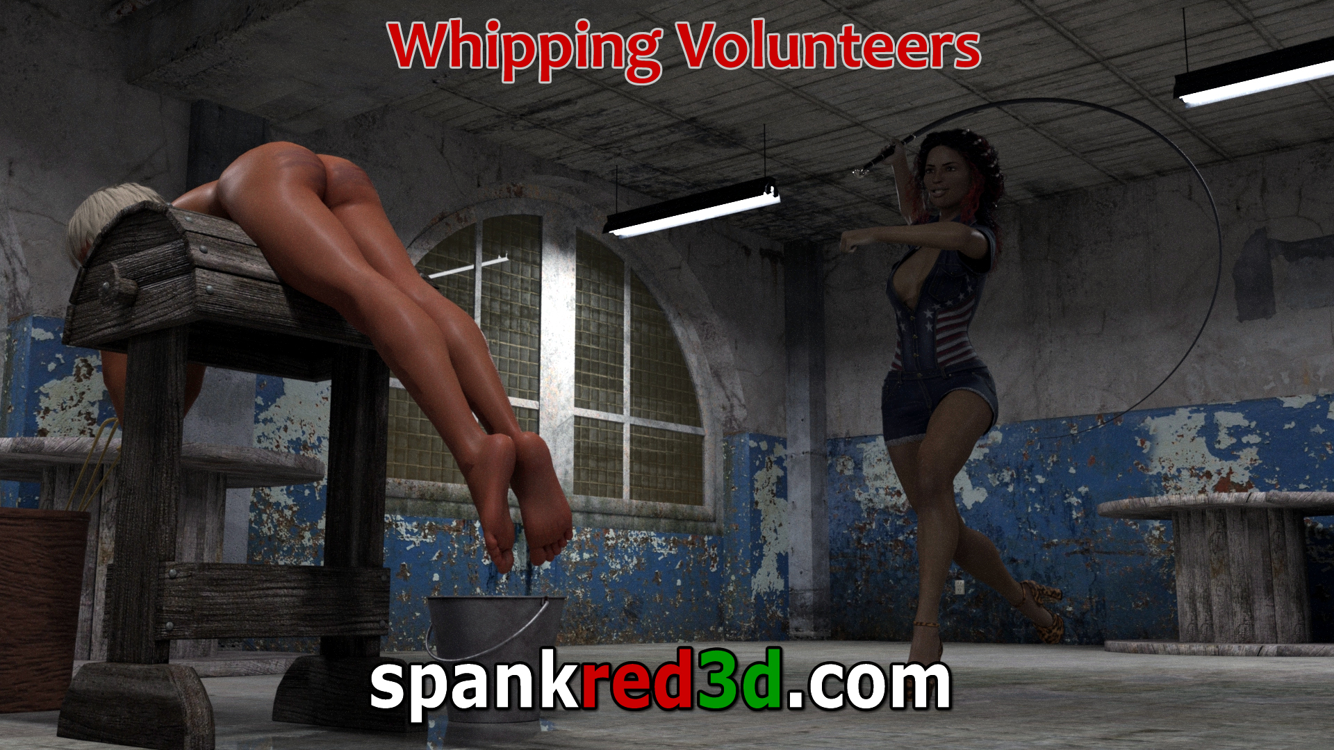 Bull Whip Whipping Volunteer