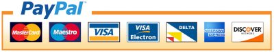 PayPal Accepts all major credit and debit cards safely