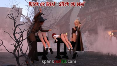 Caning bare ass teen girls Halloween