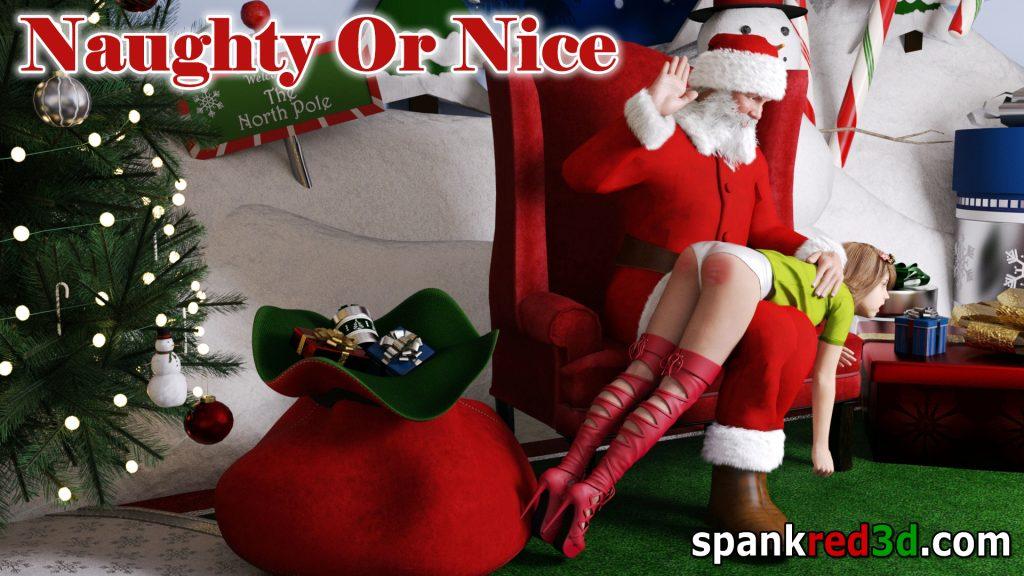 Spanking otk Christmas