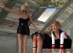 attic caning for naughty schoolgirls