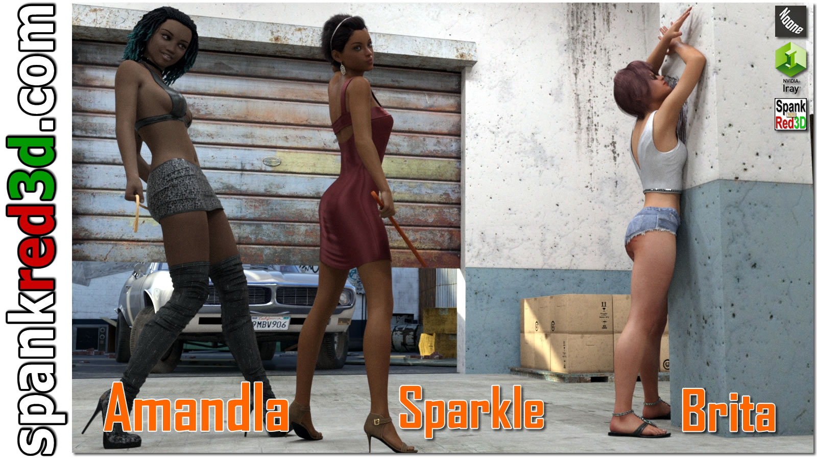 spankred3d 2020 spanking characters