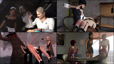spankred3d November spanking pictures updates