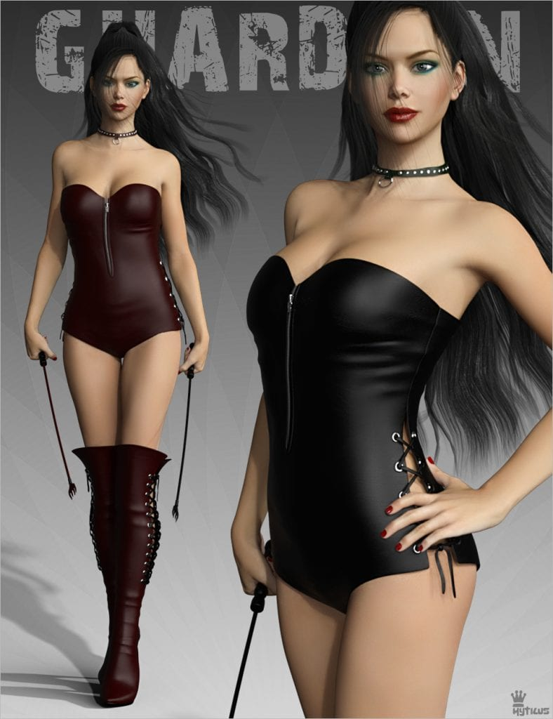Renderosity Jail Guardian leather outfit for G3 figures