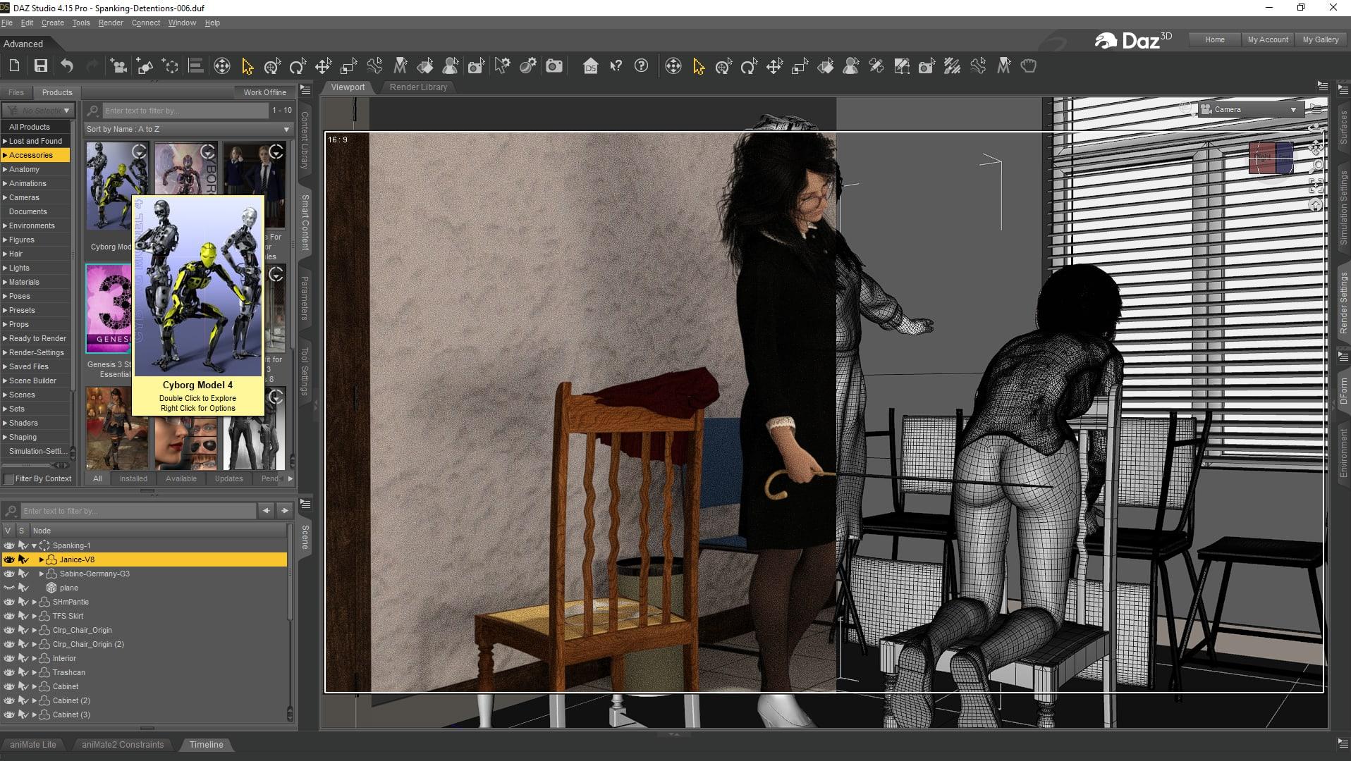 Artists 3d drawing program Daz3d Creating Free Spanking Artwork