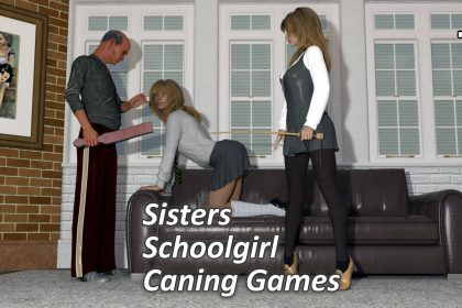 Naughty Sisters Schoolgirl Caning Games