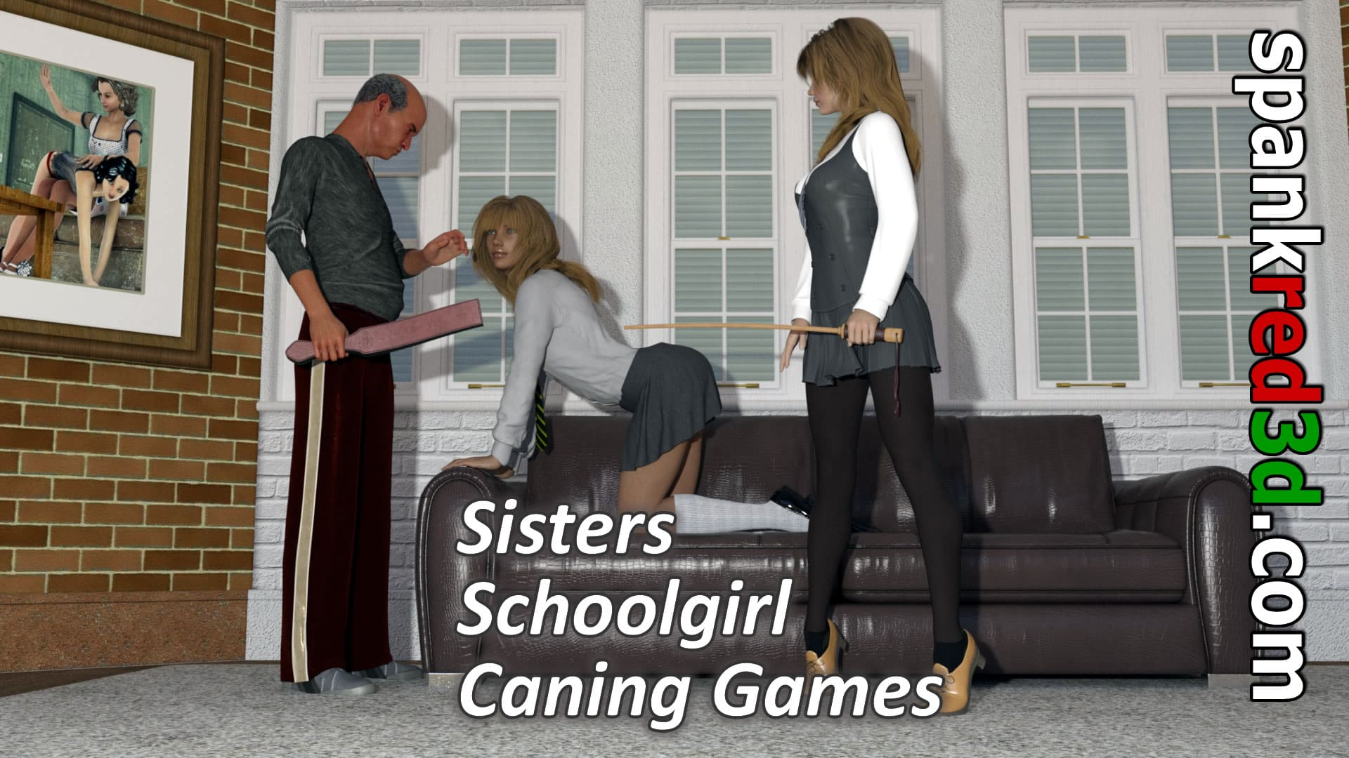 Sisters schoolgirl caning games