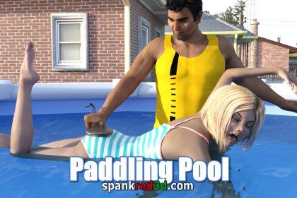 Paddling Pool Punishment stinging wet bottom fun