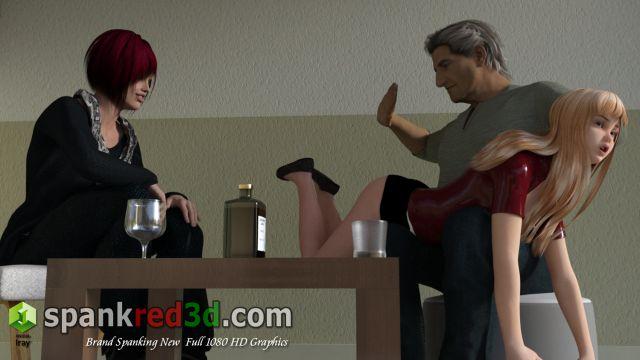 spanking naughty schoolgirl pocket money game